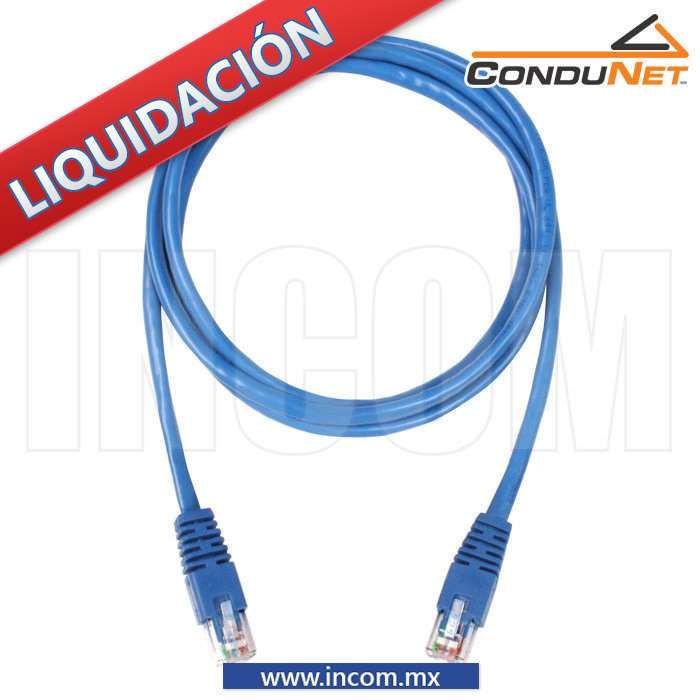 CORDON DE PARCHEO UTP CAT 6 AZUL DE 1.5MTS