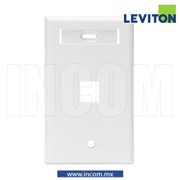 PLACA PARED (FACEPLATE) DE 1 PUERTO BLANCA