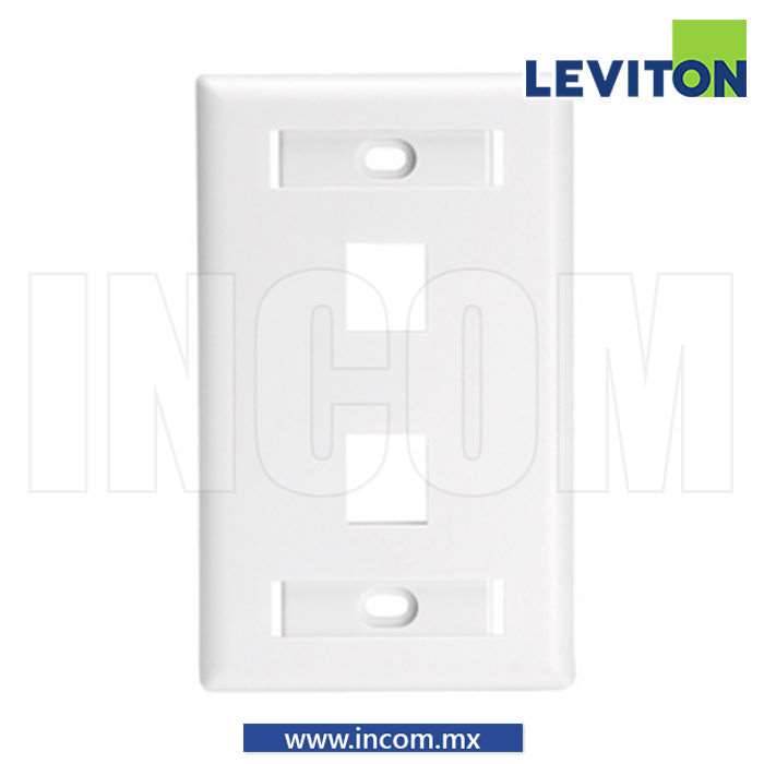 PLACA PARED (FACEPLATE) 2 PUERTOS FTP BLANCA