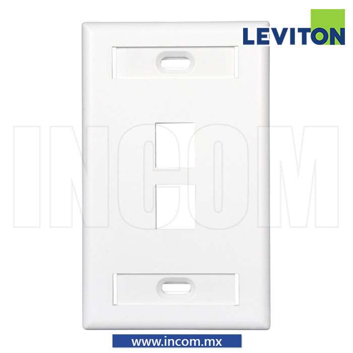 PLACA PARED (FACEPLATE) DE 2 PUERTOS BLANCA