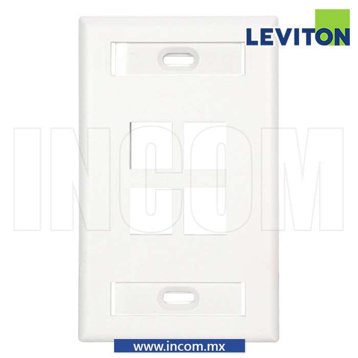 PLACA PARED (FACEPLATE) 4 PUERTOS BLANCA