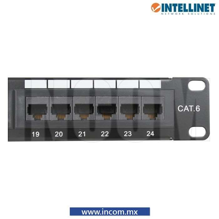 PANEL DE PARCHEO CAT 6 24 PUERTOS