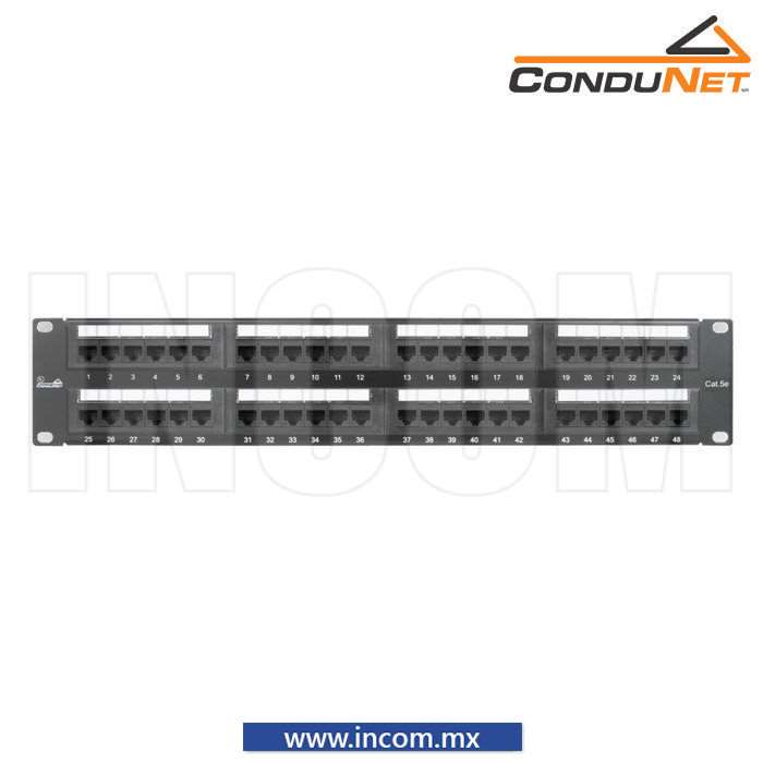 PANEL DE PARCHEO CAT 6 DE 48 PUERTOS