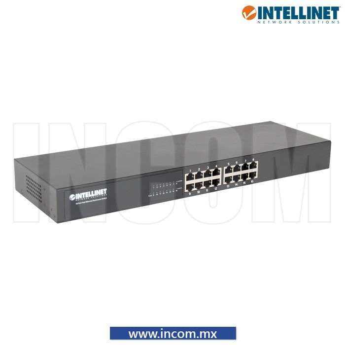 SWITCH IEEE 802.3 10/100 16 PUERTOS PARA RACK