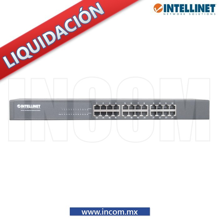 SWITCH IEEE 802.3 10/100 24 PUERTOS PARA RACK