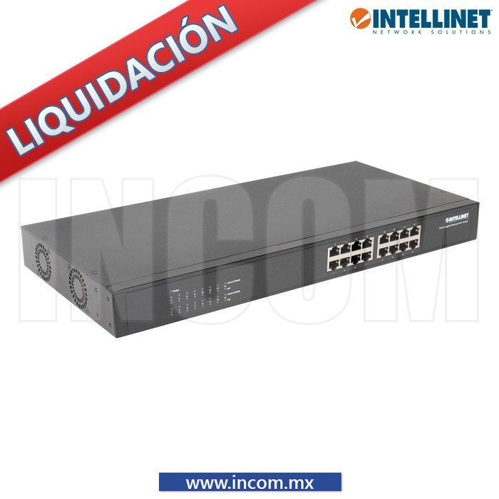 SWITCH POE+/POE GB 30W 16 PUERTOS PARA RACK