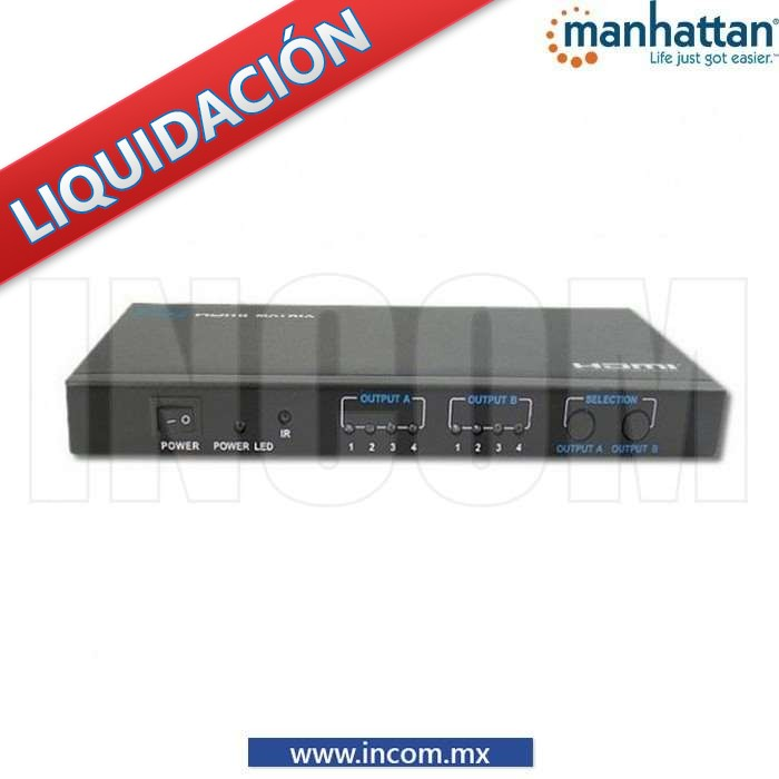 MATRIZ SWITCH/SPLITTER HDMI 4X2