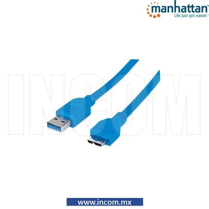 CABLE USB V3.0 A-M/SP-B-MIC-M AZUL 1.8M