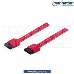 CABLE SATA HDD 7 PINES M-M ROJO 0.5M